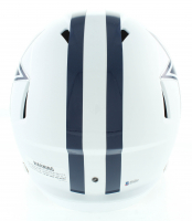 "Emmitt Smith Signed Cowboys Matte White Full-Size Speed Helmet Inscribed ""HOF 2010"" (Beckett COA) at PristineAuction.com"