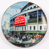 """Wrigley Field: The Friendly Confines"" Bradford Exchange Limited Edition Porcelain Plate at PristineAuction.com"