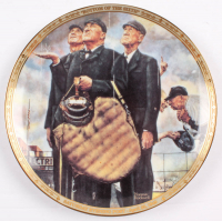 "Norman Rockwell LE 1949 ""Bottom of the Sixth"" Porcelain Plate at PristineAuction.com"