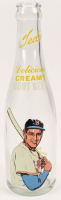 """Ted Williams """"Ted's Delicious Creamy Rootbeer"""" Glass Bottle at PristineAuction.com"""