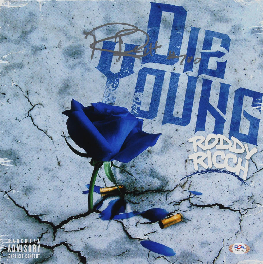 Roddy Ricch Signed 12x12 Die Young Album Cover (PSA Hologram) at PristineAuction.com