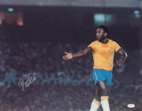 Pele Signed Team Brazil 16x20 Photo (PSA COA) at PristineAuction.com