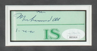 Muhammad Ali Signed 17x17 Custom Framed Cut Display With Inscription (JSA LOA) at PristineAuction.com