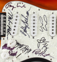"""Steppenwolf 39"""" Electric Guitar Band-Signed by (8) including Michael Monarch, John Kay, Nick St. Nicholas, Bobby Cochran (JSA LOA) at PristineAuction.com"""