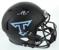 A. J. Brown Signed Titans Full-Size Matte Black Speed Helmet (JSA COA) at PristineAuction.com