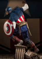 Captain America Premium Format 1:4 Scale LE Figure by Sideshow Collectibles at PristineAuction.com