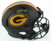 AJ Dillon Signed Packers Full-Size Eclipse Alternate Speed Helmet (Beckett COA) at PristineAuction.com