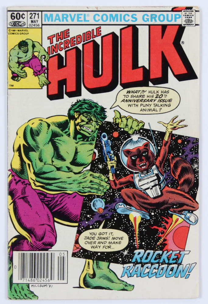 """1982 """"The Incredible Hulk"""" Issue #271 Marvel Comic Book at PristineAuction.com"""