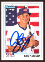 Corey Seager Signed 2010 Bowman Draft Prospects #BDPP108 (JSA COA) at PristineAuction.com