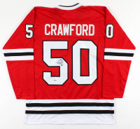 Corey Crawford Signed Jersey (Beckett COA) at PristineAuction.com