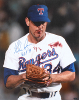 "Nolan Ryan Signed Rangers 16x20 Photo Inscribed ""H.O.F. '99"" (Ryan Hologram) at PristineAuction.com"