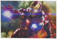 "Stan Lee Signed ""Iron Man"" 24x36 Stretched Canvas (Beckett LOA & Lee Hologram) at PristineAuction.com"