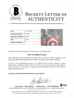 """Stan Lee Signed """"Captain America"""" 24x36 Stretched Canvas (Beckett LOA & Lee Hologram) at PristineAuction.com"""