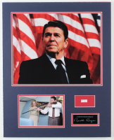 Ronald Reagan 16x20 Custom Matted Cut Display with (1) Hand-Written Word From Letter (Beckett LOA Copy) at PristineAuction.com