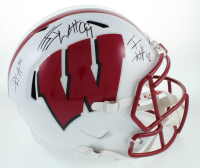JJ Watt, TJ Watt & Derek Watt Signed Wisconsin Badgers Full-Size Speed Helmet (JSA COA & Watt Hologram) at PristineAuction.com