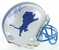 Barry Sanders Signed Lions Mini Helmet (Schwartz Sports COA) at PristineAuction.com