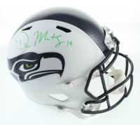 DK Metcalf Signed Seahawks Full-Size Matte White Speed Helmet (Beckett COA) at PristineAuction.com