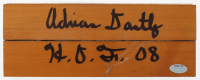 "Adrian Dantley Signed 3.25x8 Floor Piece Inscribed ""H.O.F. 08"" (Schwartz COA) at PristineAuction.com"