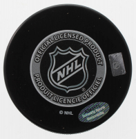 "Dominik Hasek Signed Red Wings 2002 Stanley Cup Champions Logo Puck Inscribed ""HOF 14"" (Schwartz COA) at PristineAuction.com"