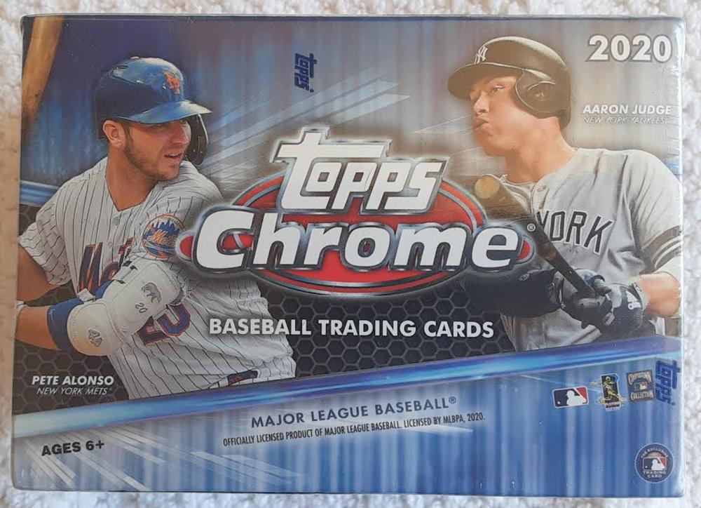 2020 Topps Chrome Baseball Blaster Box with (7) Packs at PristineAuction.com