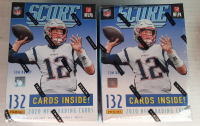 Lot of (2) 2020 Score Football Blaster Box of (11) Packs at PristineAuction.com