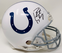 Peyton Manning Signed Colts Full-Size Authentic On-Field Helmet (Fanatics Hologram) at PristineAuction.com
