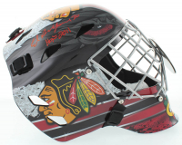 "Ed Belfour Signed Blackhawks Full-Size Goalie Mask Inscribed ""HOF 2011"" (Schwartz COA) at PristineAuction.com"