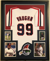 """Charlie Sheen Signed """"Major League"""" Indians 34x42 Custom Framed Jersey (Beckett COA) at PristineAuction.com"""