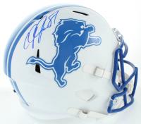 Calvin Johnson Signed Lions Matte White Speed Full-Size Helmet (Schwartz Sports COA) at PristineAuction.com