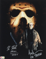 "Ari Lehman & Kane Hodder Signed ""Friday the 13th"" 11x14 Photo Inscribed ""OG Jason"" & ""Jason 7, 8, 9, X"" (PA COA) at PristineAuction.com"