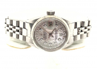 Rolex Diamond Oyster Perpetual DateJust Women's Wristwatch with Box & Papers at PristineAuction.com