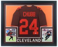Nick Chubb Signed 35x43 Custom Framed Jersey (JSA COA) at PristineAuction.com
