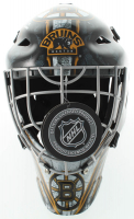 """Gerry Cheevers Signed Bruins Full-Size Hockey Goalie Mask Inscribed """"The Mask"""" (Schwartz COA) at PristineAuction.com"""