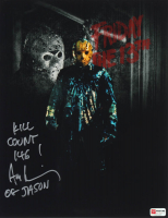 "Ari Lehman Signed ""Friday the 13th"" 11x14 Photo Inscribed ""Kill Count 146!"" & ""OG Jason"" (PA COA) at PristineAuction.com"