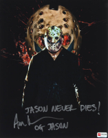 "Ari Lehman Signed ""Friday the 13th"" 11x14 Photo Inscribed ""Jason Never Dies!"" & ""OG Jason"" (PA COA) at PristineAuction.com"