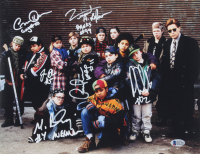 """""""The Mighty Ducks"""" 11x14 Photo Cast-Signed by (6) with Matt Doherty, Jane Plank, Vincent LaRusso, Danny Tamberelli, Aaron Schwartz & Garette Ratliff Henson With Multiple Character Inscriptions (Beckett COA) at PristineAuction.com"""