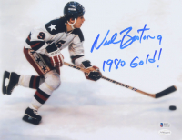 "Neal Broten Signed Team USA 11x14 Photo Inscribed ""1980 Gold!"" (Beckett COA & TSE Hologram) at PristineAuction.com"