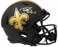 Drew Brees Signed Saints Full-Size Eclipse Speed Helmet (Beckett COA & Brees Hologram) at PristineAuction.com