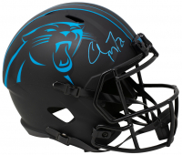 Christian McCaffrey Signed Panthers Full-Size Eclipse Alternate Speed Helmet (Beckett COA) at PristineAuction.com