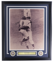 Yogi Berra Signed Yankees 16x20 Framed Photo Display (PSA COA) at PristineAuction.com