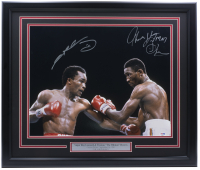 "Thomas ""Hitman"" Hearns & Sugar Ray Leonard Signed 22x27 Custom Framed Photo Display (PSA COA) at PristineAuction.com"