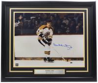 Bobby Orr Signed Bruins 22x27 Custom Framed Photo Display (GNR COA) at PristineAuction.com