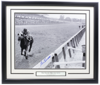 Ron Turcotte Signed 1973 Belmont Stakes 22x27 Custom Framed Photo Display (JSA COA) at PristineAuction.com