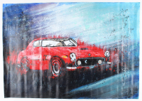 "Rodney Weng - ""FERRARI 250"" 25x36 Original Oil Panting on Linen (PA LOA) at PristineAuction.com"