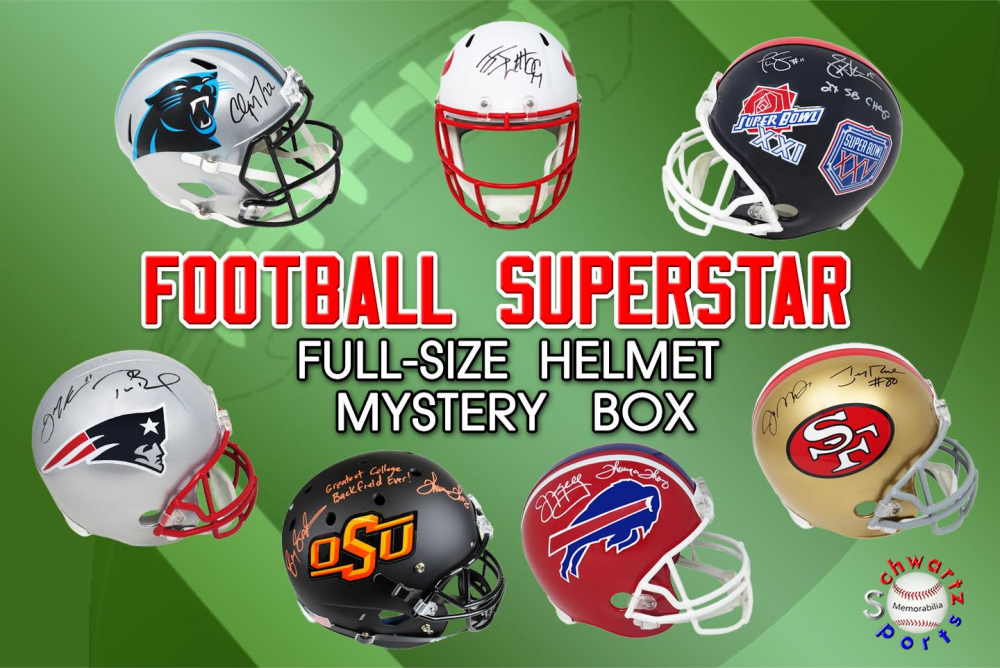Schwartz Sports Football Superstar Signed Full-Size Football Helmet Mystery Box – Series 16 - Featuring DYNAMIC DUOS!! (Limited to 100) at PristineAuction.com