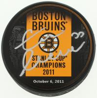 Zdeno Chara Signed 2011 Stanley Cup Champions Bruins Logo Puck (Chara COA) at PristineAuction.com
