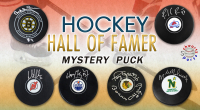 Schwartz Sports Hockey Hall of Famer Signed Logo Hockey Puck Mystery Box - Series 14 (Limited to 100) at PristineAuction.com