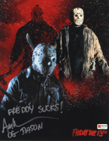 "Ari Lehman Signed ""Friday the 13th"" 11x14 Photo Inscribed ""Freddy Sucks!"" & ""OG Jason"" (PA COA) at PristineAuction.com"