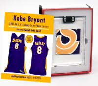 KOBE BRYANT 2005-06 LA LAKERS GAME WORN JERSEY MYSTERY SWATCH BOX! at PristineAuction.com