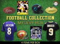 Sports Football Collection Mystery Box - Series 9 (Limited to 100) (4 Autographed Items Per Box) at PristineAuction.com